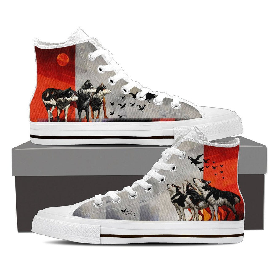 Custom Printed Shoes - Husky Dog #4 - TheSevenShop