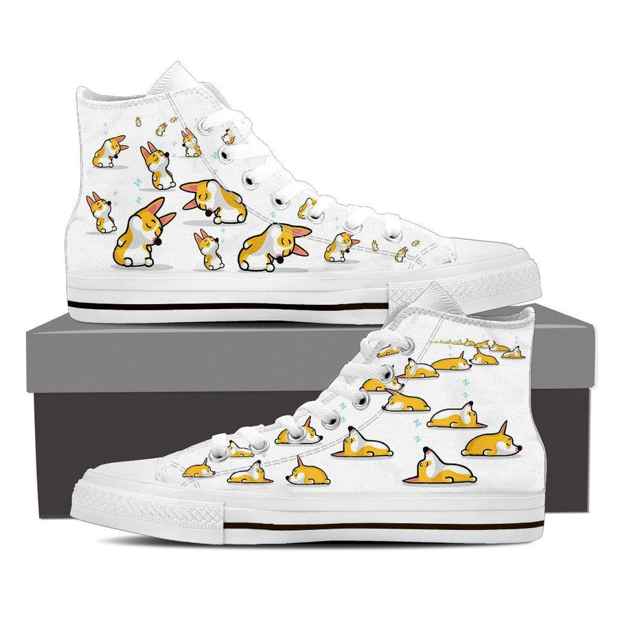 Custom Printed Shoes - Corgi Dog #3 - TheSevenShop