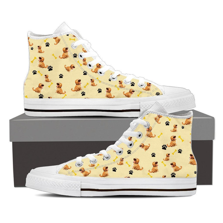 Custom Printed Shoes - Golden Retriever Dog #2 - TheSevenShop
