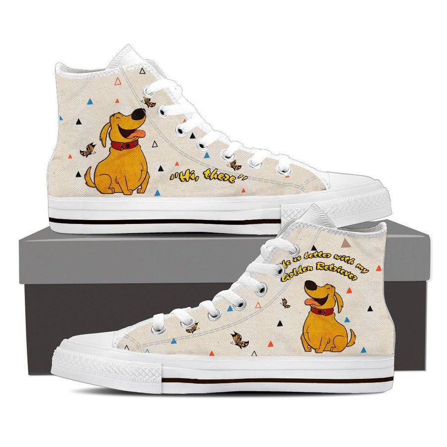 Custom Printed Shoes - Golden Retriever Dog #3 - TheSevenShop