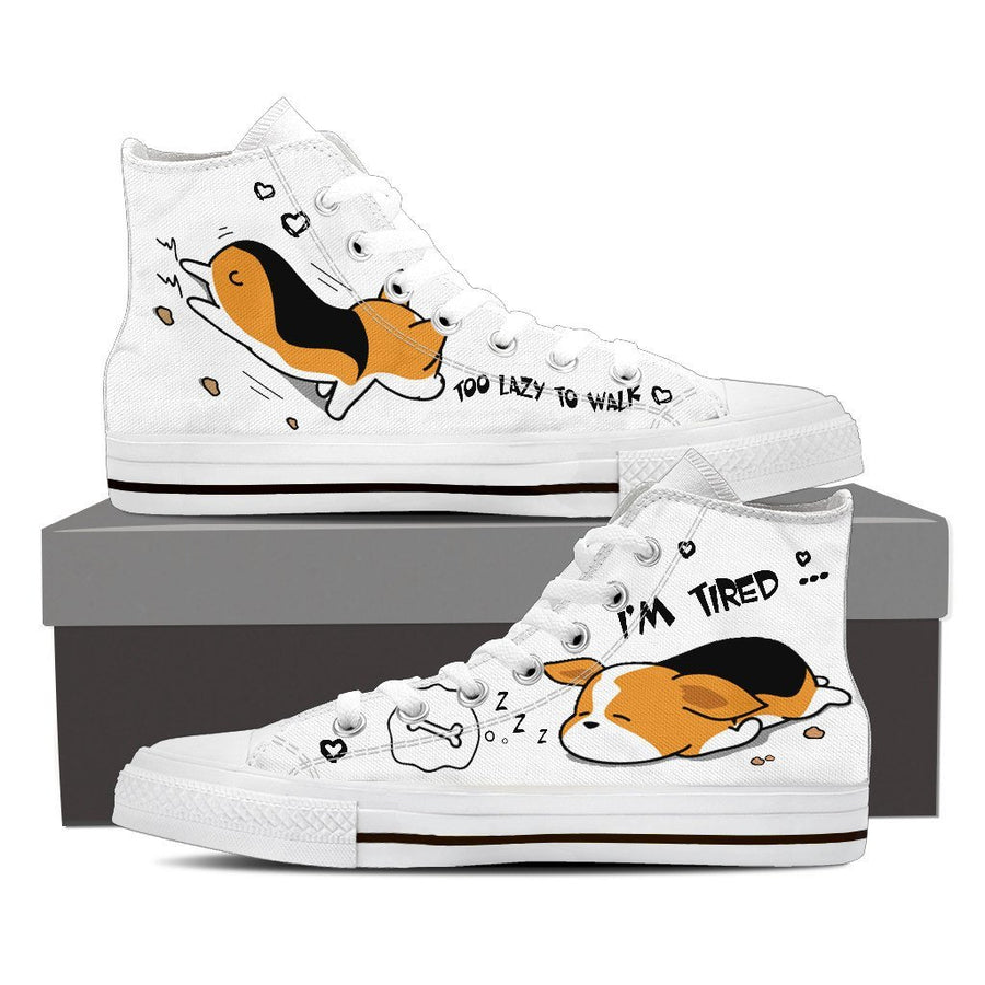 Custom Printed Shoes - Corgi Dog #1 - TheSevenShop