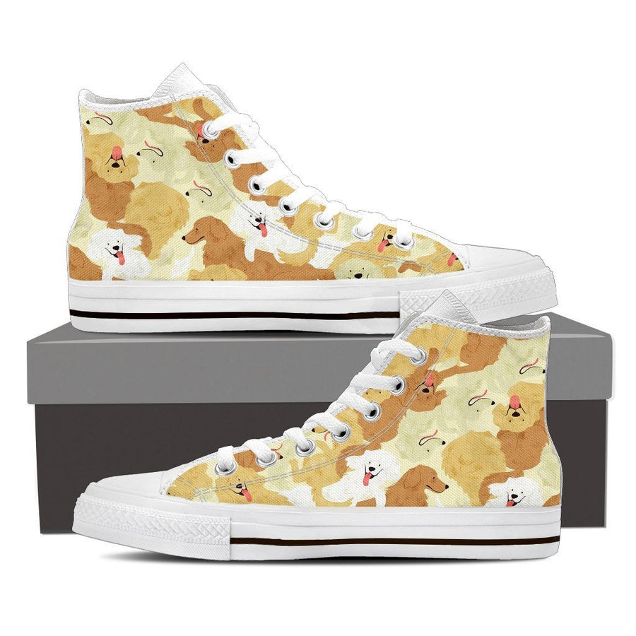 Custom Printed Shoes - Golden Retriever Dog #1 - TheSevenShop