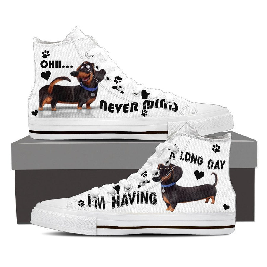 Custom Printed Shoes - Dachshund Dog #2 - TheSevenShop