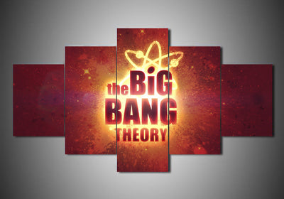 Big Bang Theories (4 Styles) - 5-Piece Canvas Wall Art - MyStorify