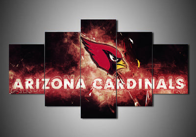 Arizona Cardinals - Team (2 Styles) - 5-Piece Canvas Wall Art - MyStorify