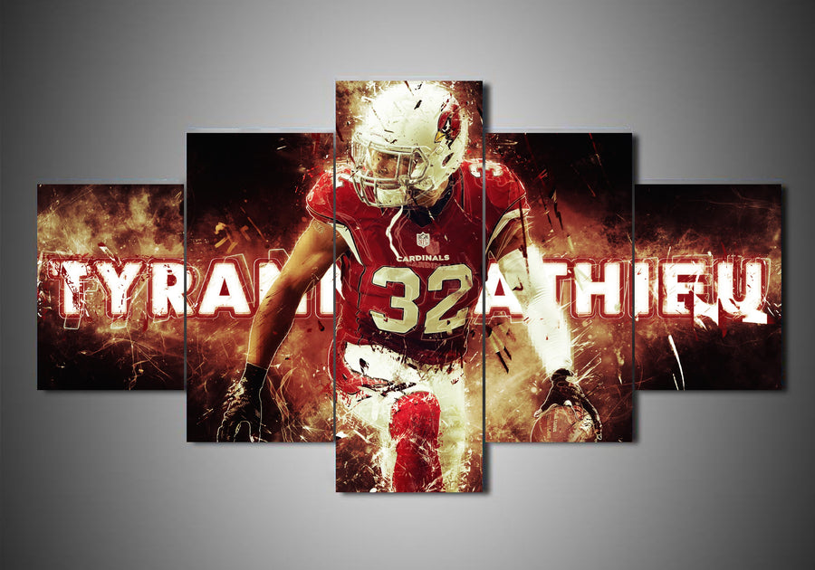 Arizona Cardinals - Tyrann Mathieu (2 Styles) - 5-Piece Canvas Wall Art - MyStorify