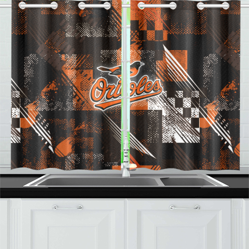 Baltimore Orioles - Kitchen Curtain