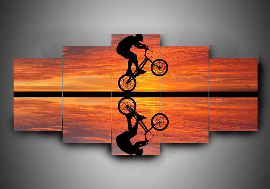 Bicycling (4 Styles) - 5-Piece Canvas Wall Art
