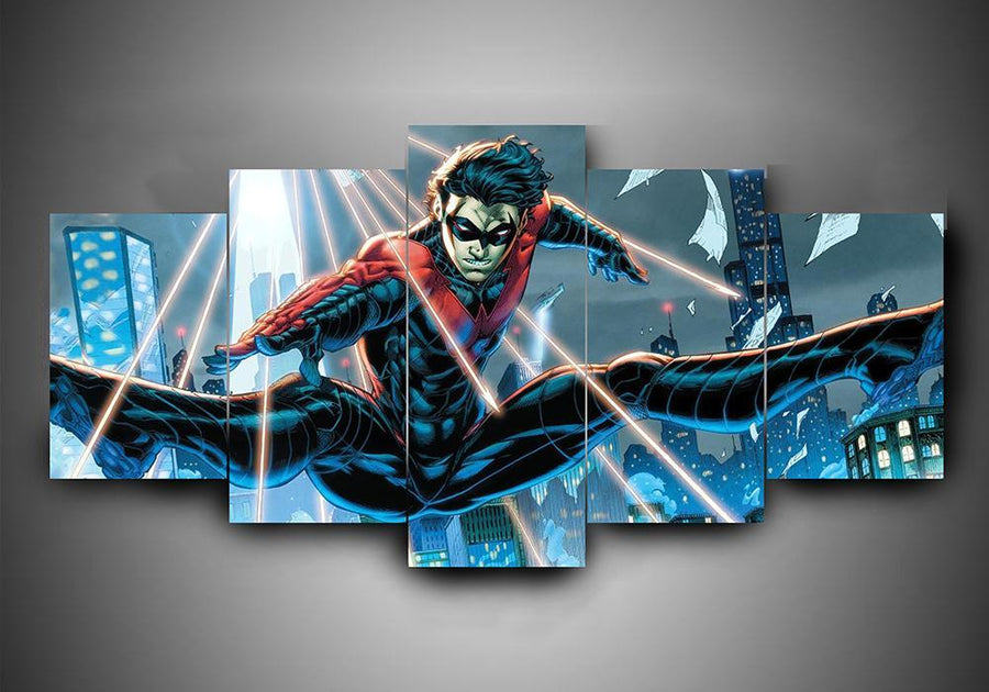 Nightwing (3 Styles) - 5-Piece Canvas Wall Art