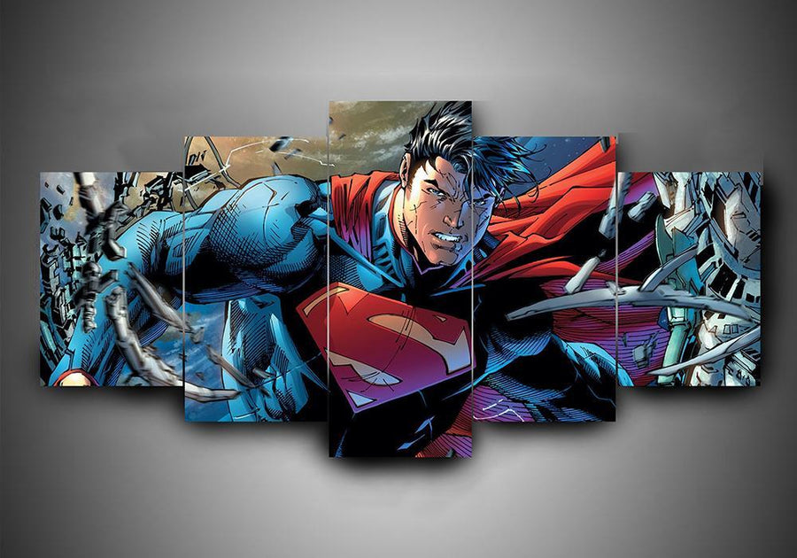 Superman (3 Styles) - 5-Piece Canvas Wall Art