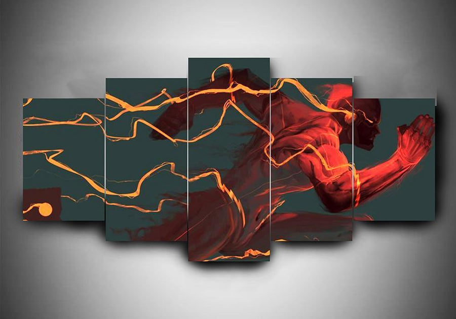 The Flash (3 Styles) - 5-Piece Canvas Wall Art
