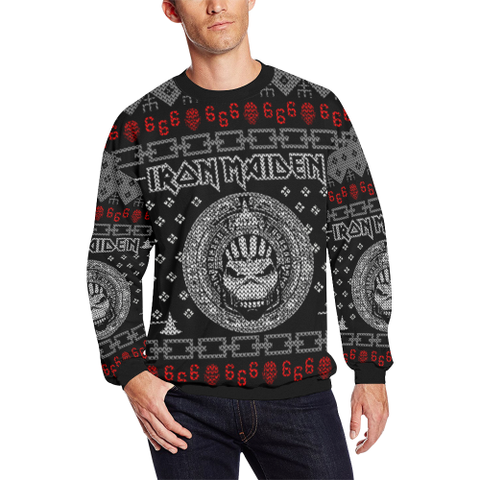 Iron Maiden Ugly Christmas Sweatshirt Hoodie Zip Up Hoodieiron