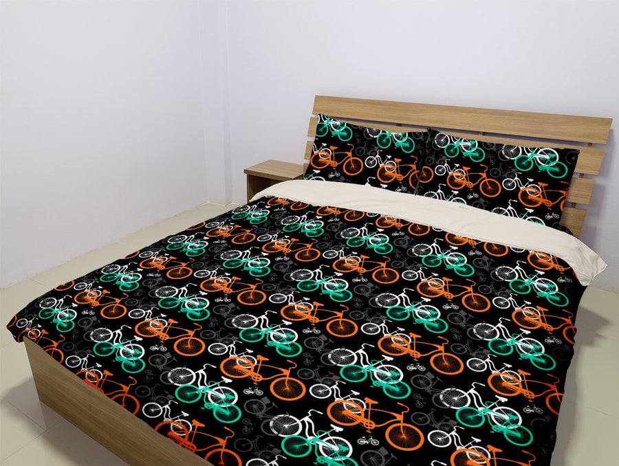 Bicycling (5 Styles) - Bedding Set (Duvet Cover & Pillowcases)