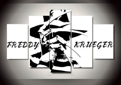 Freddy Krueger (2 Styles) - 5-Piece Canvas Wall Art-MyStorify