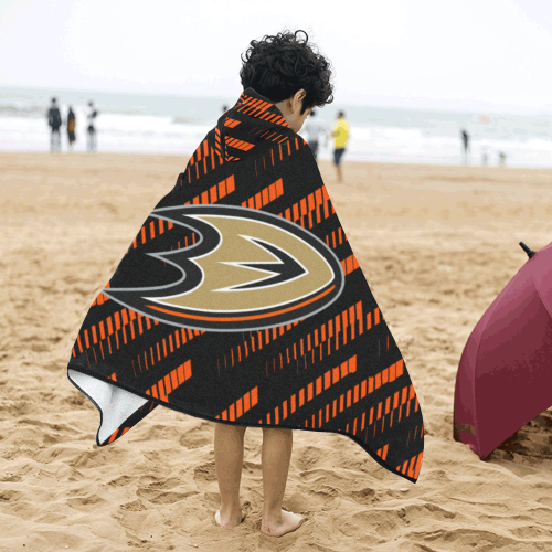 Anaheim Ducks - Kids Hooded Bath Towels