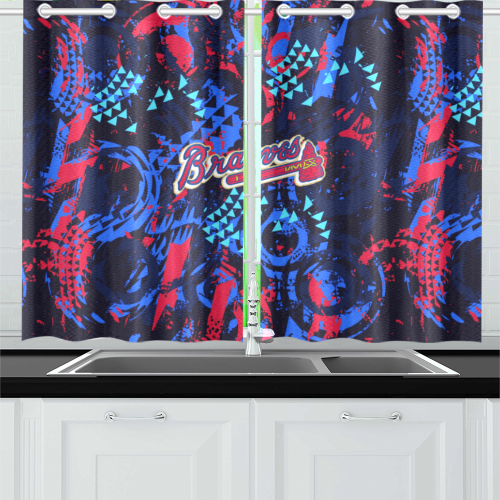 Atlanta Braves - Kitchen Curtain