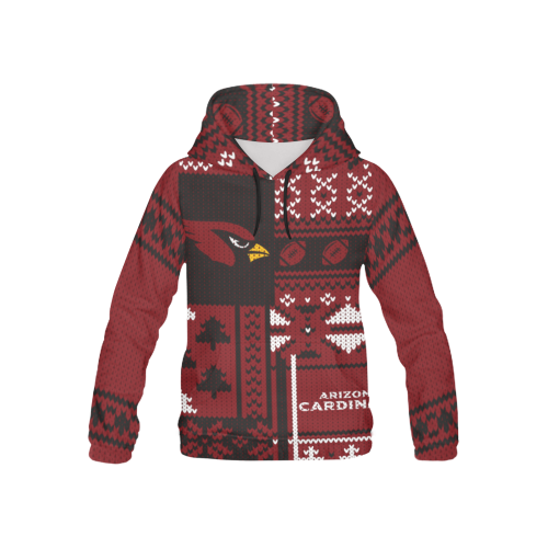 Arizona Cardinals - Ugly Christmas Kids Hoodie, Kids Zip Hoodie