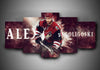 Arizona Coyotes - Alex Goligoski - 5-Piece Canvas Wall Art - MyStorify