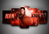 Boxing - Ava Knight - 5-Piece Canvas Wall Art - MyStorify