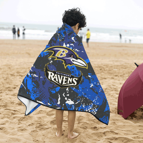 Baltimore Ravens - Kids Hooded Bath Towels