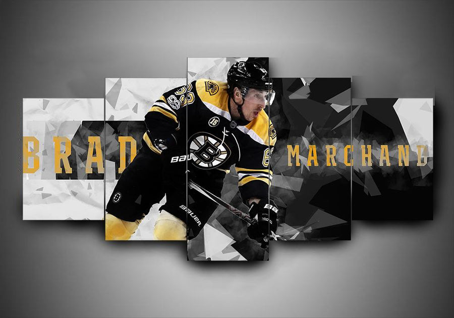 Boston Bruins - Brad Marchand - 5-Piece Canvas Wall Art-MyStorify