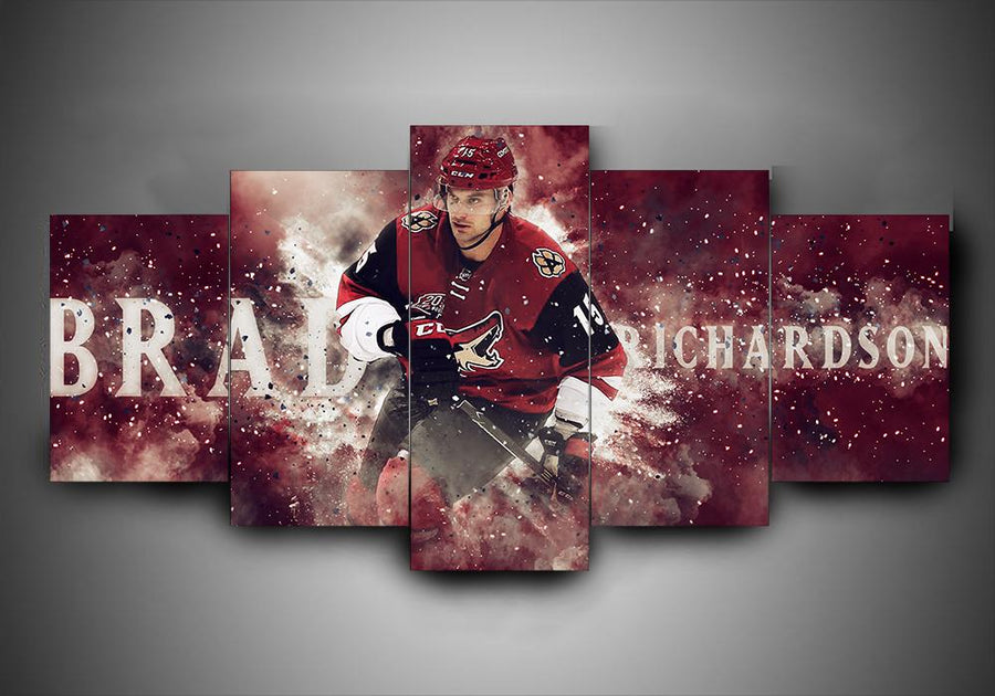 Arizona Coyotes - Brad Richarson - 5-Piece Canvas Wall Art - MyStorify