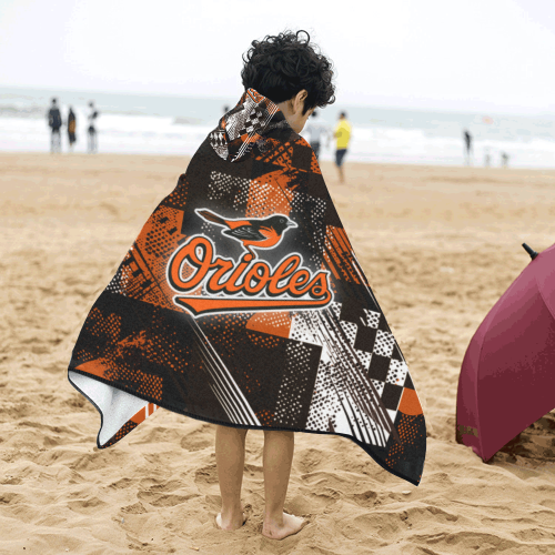 Baltimore Orioles - Kids Hooded Bath Towels