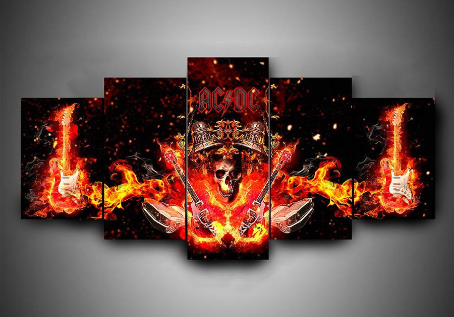 AC/DC - 5-Piece Canvas Wall Art