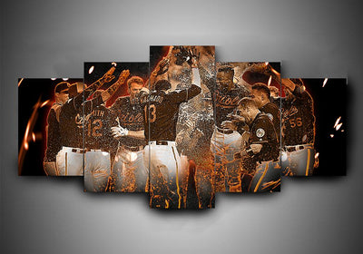 Baltimore Orioles (4 Styles) - 5-Piece Canvas Wall Art - MyStorify