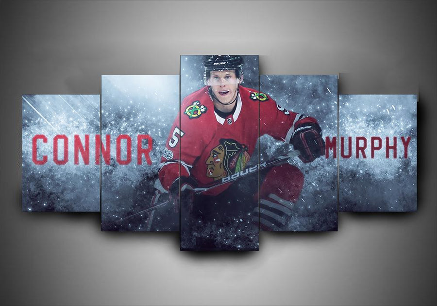 Chicago Blackhawks - Connor Murphy - 5-Piece Canvas Wall Art - MyStorify
