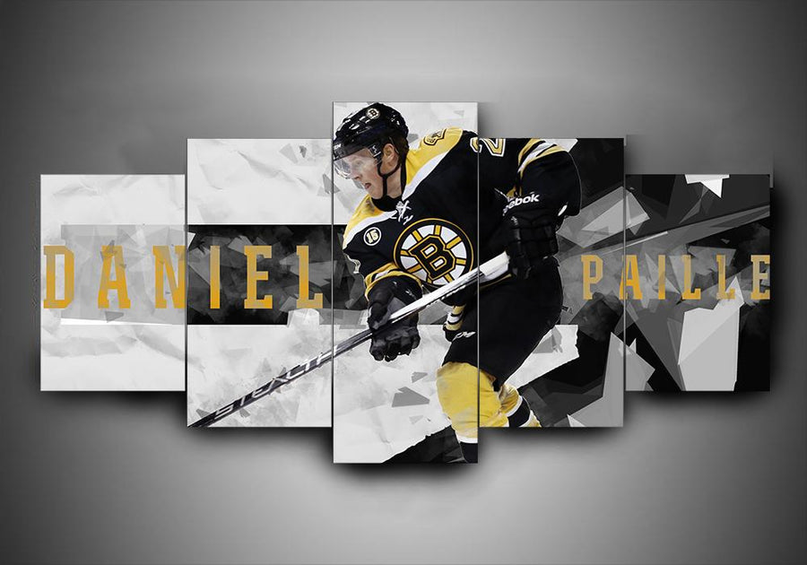 Boston Bruins - Daniel Paille - 5-Piece Canvas Wall Art - MyStorify