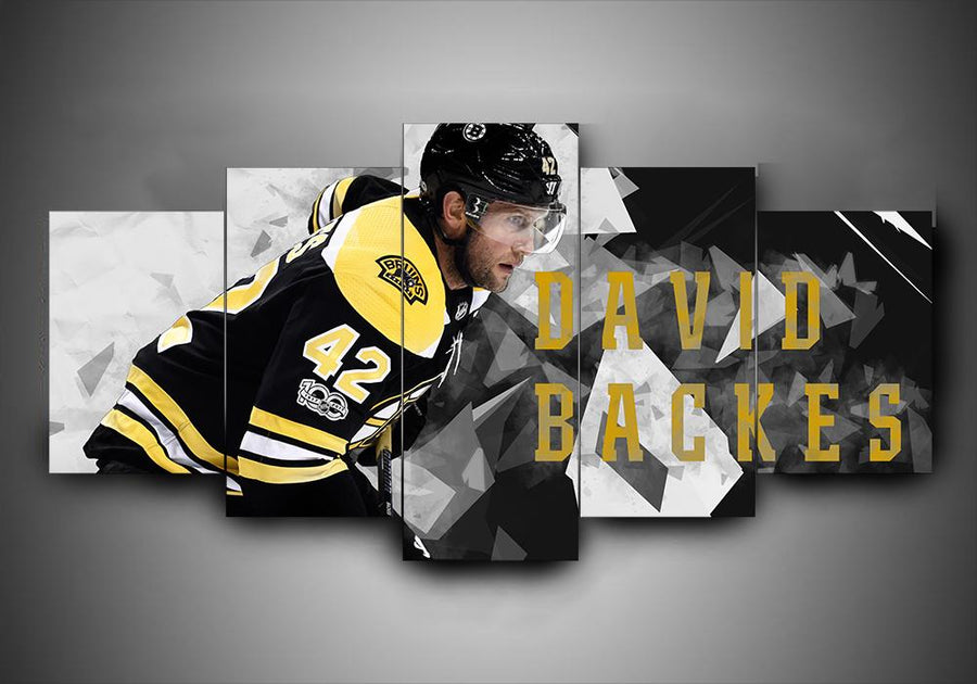 Boston Bruins - David Backes - 5-Piece Canvas Wall Art - MyStorify