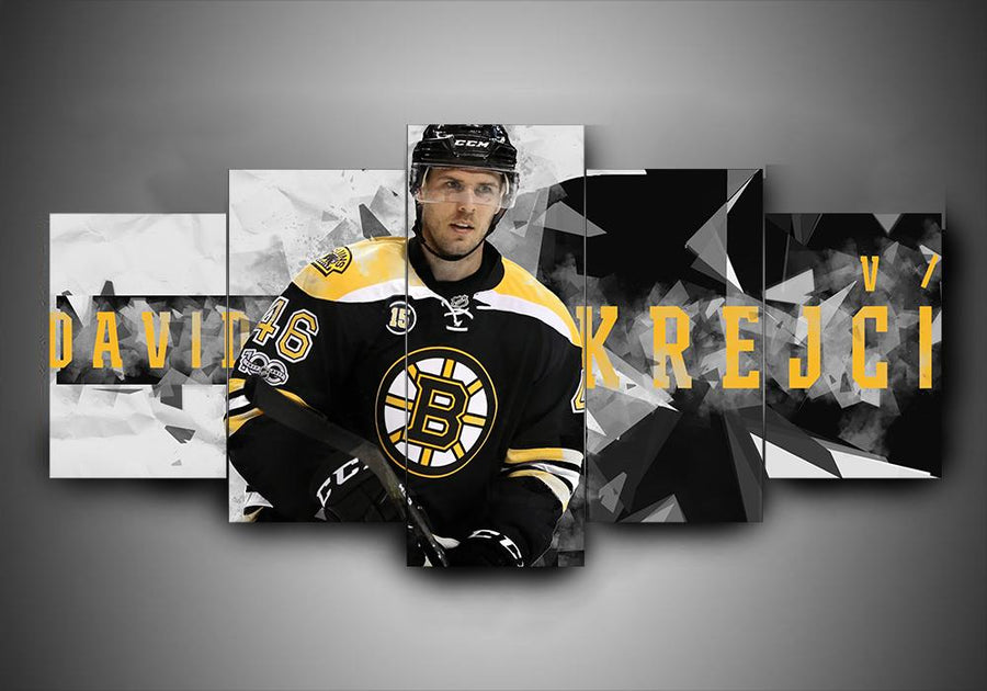 Boston Bruins - David Krejci - 5-Piece Canvas Wall Art - MyStorify