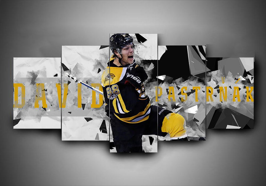 Boston Bruins - David Pastrnak - 5-Piece Canvas Wall Art - MyStorify