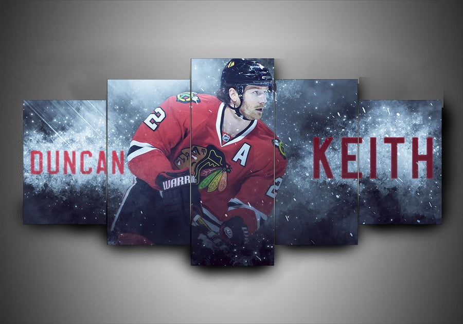 Chicago Blackhawks - Duncan Keith - 5-Piece Canvas Wall Art - MyStorify