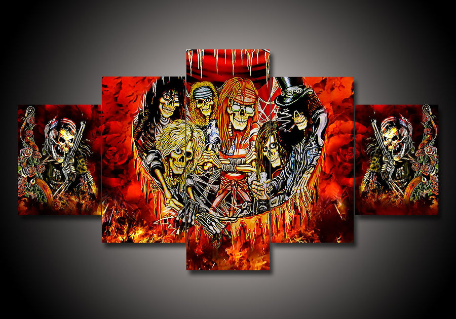 5-Piece Canvas Wall Art - Guns N' Roses - TheSevenShop