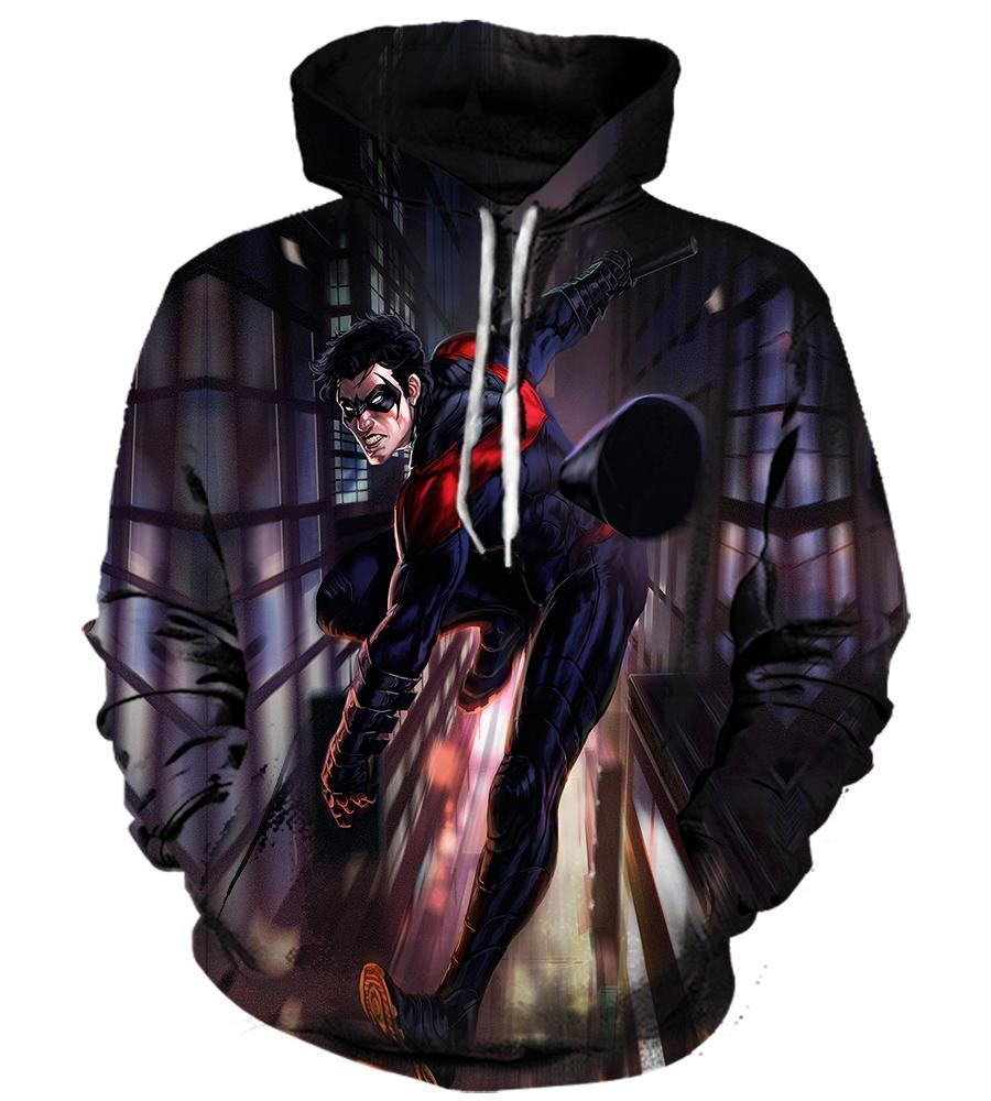 Nightwing - 3D Hoodie, T shirt, Sweatshirt, Tank Top