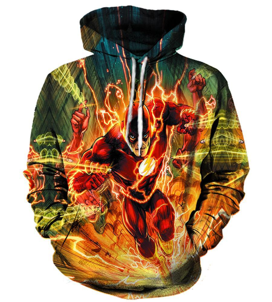 The Flash - 3D Hoodie, T shirt, Sweatshirt, Tank Top