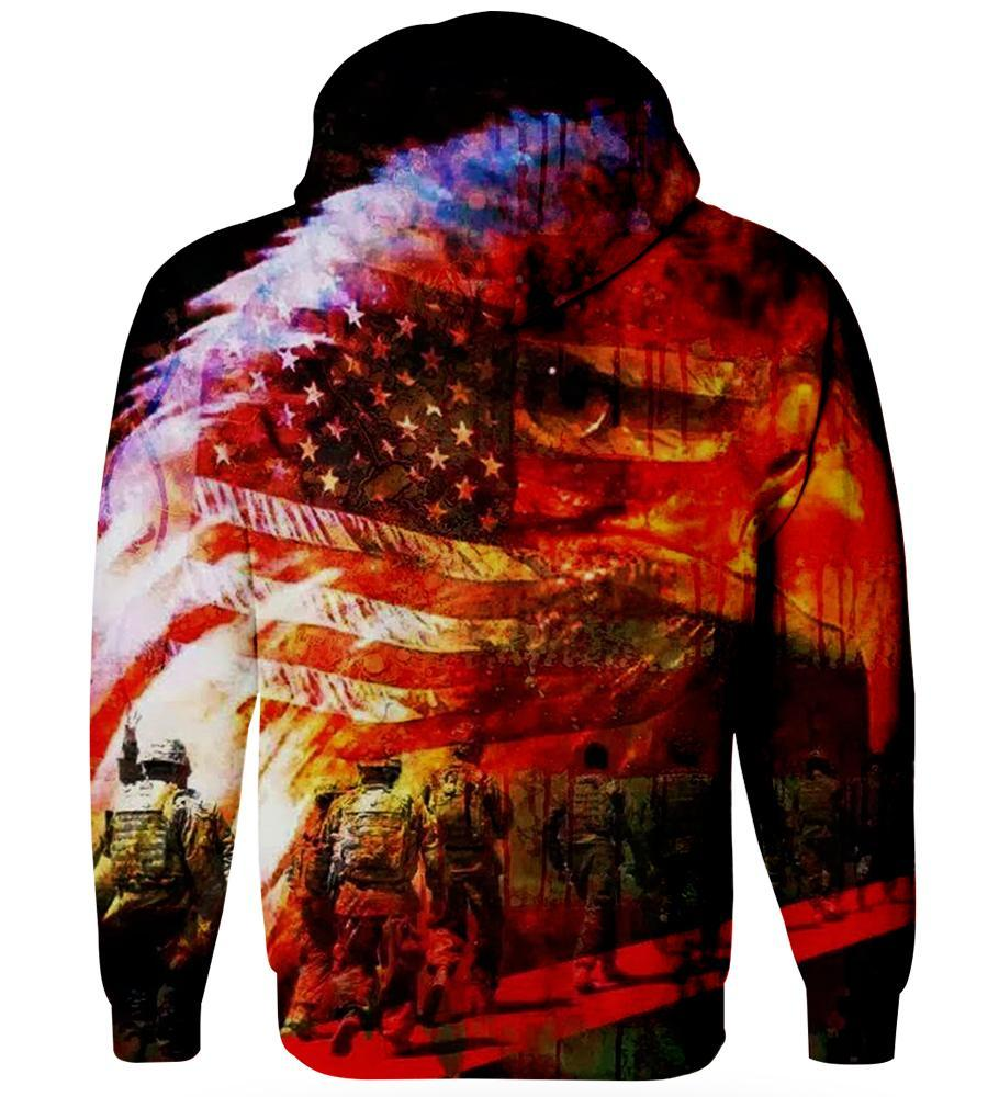 American Patriot - United State of America - 3D Hoodie, T shirt, Sweatshirt, Tank Top