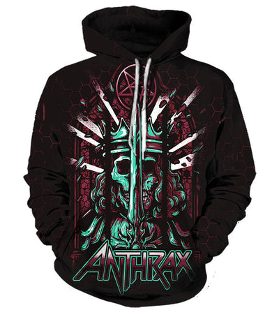 All Over Print Hoodie/Tee/Sweatshirt/Tank Top - Anthrax - TheSevenShop