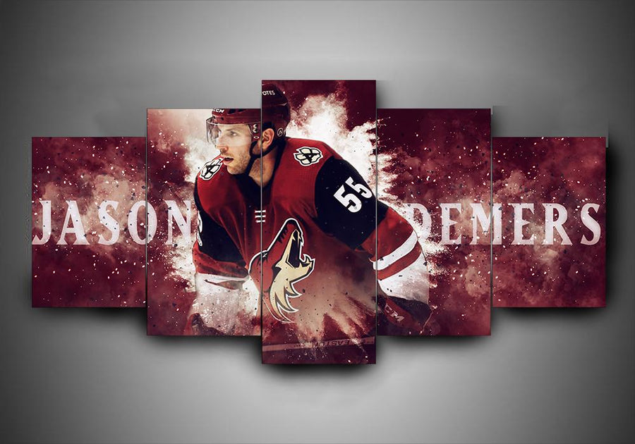 Arizona Coyotes - Jason Demers - 5-Piece Canvas Wall Art - MyStorify