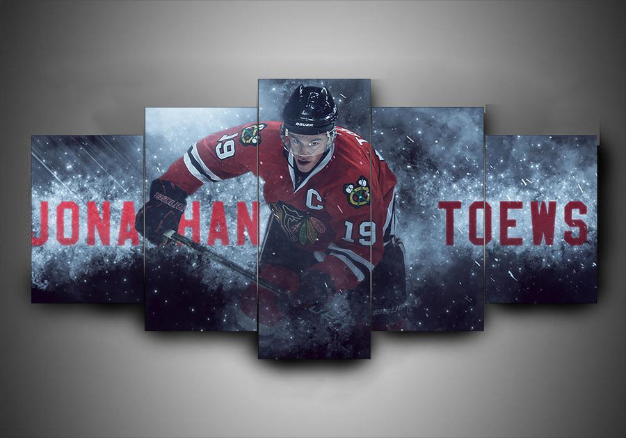 Chicago Blackhawks - Jonathan Toews - 5-Piece Canvas Wall Art - MyStorify