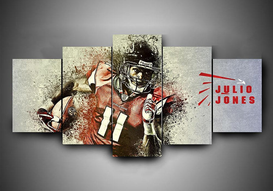 Atlanta Falcons - Julio Jones - 5-Piece Canvas Wall Art