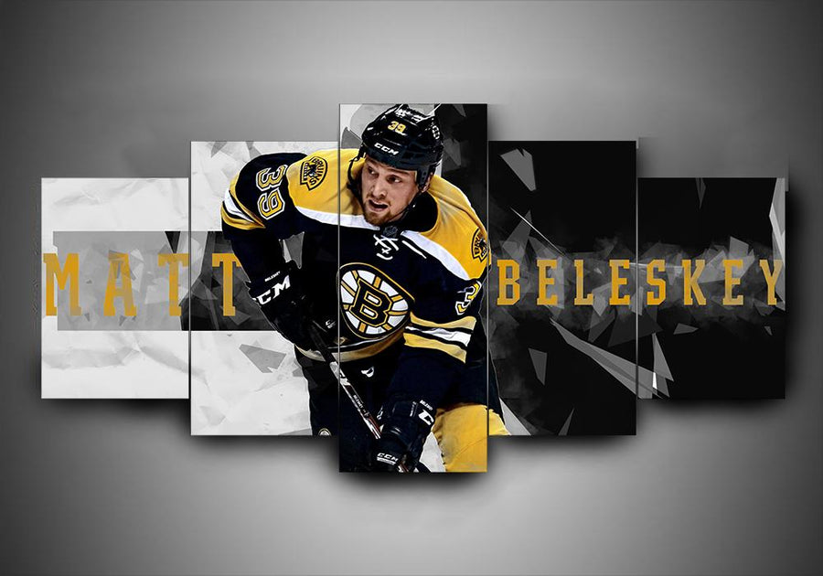 Boston Bruins - Matt Beleskey - 5-Piece Canvas Wall Art - MyStorify