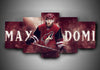 Arizona Coyotes - May Domi - 5-Piece Canvas Wall Art - MyStorify