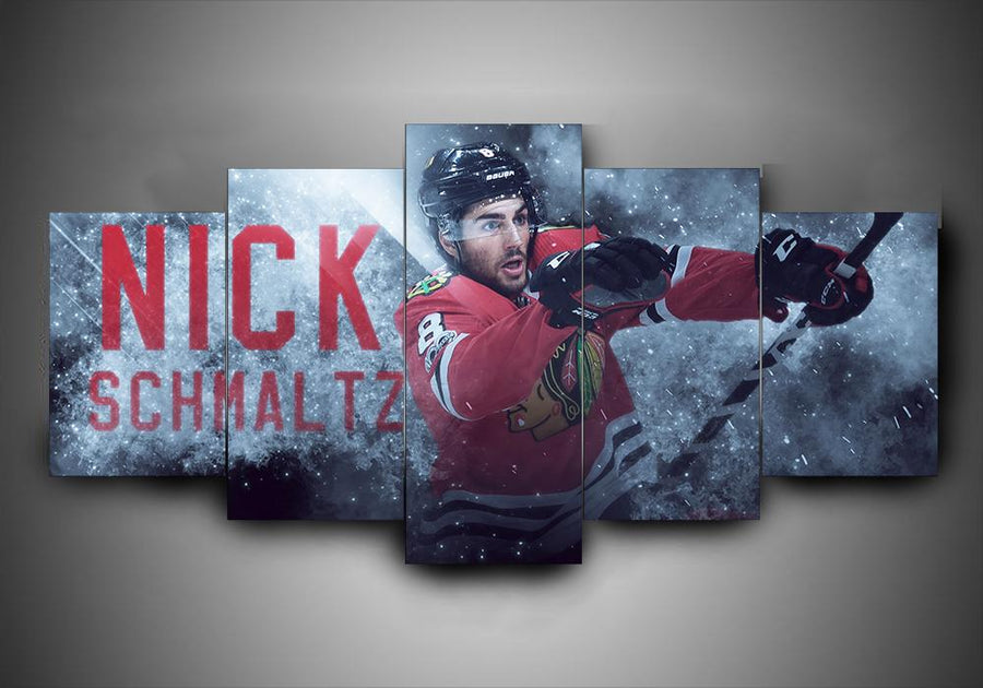 Chicago Blackhawks - Nick Schmaltz - 5-Piece Canvas Wall Art - MyStorify