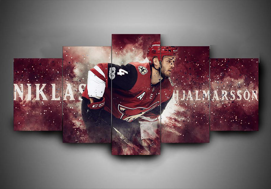 Arizona Coyotes - Niklas Hjalmarsson - 5-Piece Canvas Wall Art - MyStorify