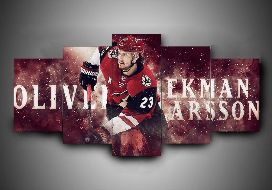 Arizona Coyotes - Oliver Ekman Lasson - 5-Piece Canvas Wall Art - MyStorify