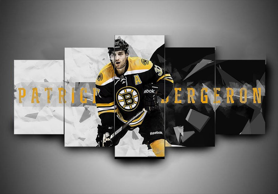 Boston Bruins - Patrice Bergeron - 5-Piece Canvas Wall Art - MyStorify