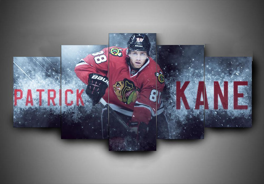 Chicago Blackhawks - Patrick Kane - 5-Piece Canvas Wall Art - MyStorify
